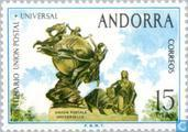 Postage Stamps - Andorra - Spanish - 100 years of UPU