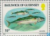 Postage Stamps - Guernsey - Fishing
