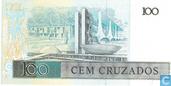 Billets de banque - Banco Central do Brasil - Brésil 100 Cruzados