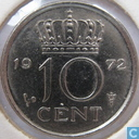 Coins - the Netherlands - Netherlands 10 cents 1972
