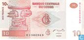 Banknotes - Banque Centrale du Congo - Congo 10 Francs