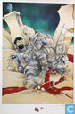 VERKEERDE RUBRIEK --> STRIP-EXLIBRIS/PRENT Hommage à Bilal et Hergé - H, K, B met raket