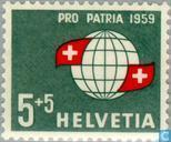 Postage Stamps - Switzerland [CHE] - Globe