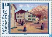 Postage Stamps - Liechtenstein - Paintings