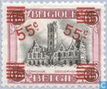 City Hall of Dendermonde, with overprint