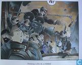 Affiches et posters - Bandes dessinées - VERKEERDE RUBRIEK --> STRIP-EXLIBRIS/PRENT Hommage à Bilal et Hergé - Gesigneerd