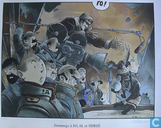 Plakate und Poster  - Comics - VERKEERDE RUBRIEK --> STRIP-EXLIBRIS/PRENT Hommage à Bilal et Hergé - Gesigneerd