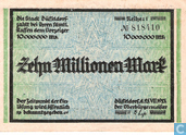 Banknotes - Düsseldorf - Stadt - Dusseldorf 10 Million Mark in 1923