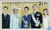 Roi Carl XVI Gustaf-50e anniversaire