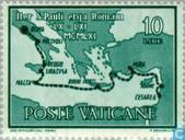 Timbres-poste - Vatican - Arrivée Saint Paul à Rome