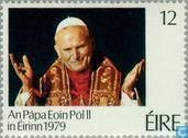Postzegels - Ierland - Pausbezoek