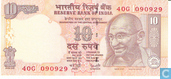 Banknotes - Reserve Bank of India - India 10 Rupees 1996 (L)