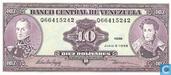 Banknoten  - Banco Central de Venezuela - Venezuela 10 Bolivares