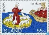 Postzegels - IJsland - Europa – Grote ontdekkingen