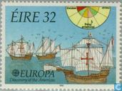 Postage Stamps - Ireland - Europe – Discovery of America