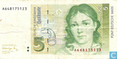 Banknotes - Deutsche Bundesbank - Bundesbank, 5 D-Mark in 1991 (a)