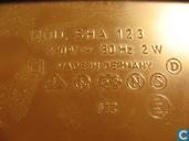Clock / alarm clock - SHA 123 - Bruine Wekker, jaren 70