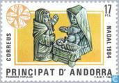 Postage Stamps - Andorra - Spanish - The Holy Family