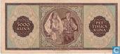 Billets de banque - Croatie - 1943 Issue - Croatie 5.000 Kuna 1943