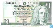 Banknotes - Royal Bank of Scotland plc - Scotland 1 Pound