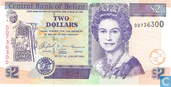 Bankbiljetten - Central Bank of Belize - Belize 2 Dollars