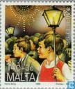 Postage Stamps - Malta - Children's Procession