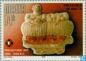 Briefmarken - Malta - Prähistorische Kunst-Schätze
