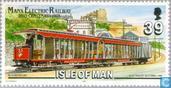 Briefmarken - Man - 100 Jahre elektrische Straßenbahn