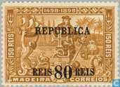 Vasco da Gama timbres Madère cmd. REPUBLICA