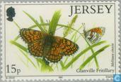 Timbres-poste - Jersey - Papillons
