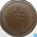 Coins - the Netherlands - Netherlands 5 cents 1973