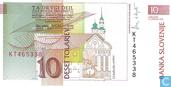 Bankbiljetten - Slovenië - 1992-2005 Issue - Slovenië 10 Tolarjev 1992
