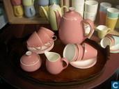 Keramik - Pastell - Kaffee Geschirr Parisienne