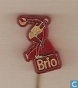 Brio (discus thrower) [gold on red]