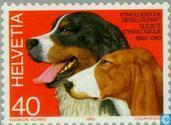 Postzegels - Zwitserland [CHE] - Kynologische vereniging 100 jaar