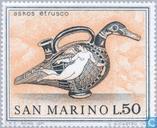 Postzegels - San Marino - Kunst Etruskiers
