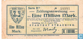 Billets de banque - Straubing - Stadt - Straubing 1 Million Mark