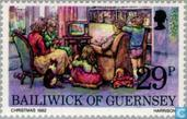 Postage Stamps - Guernsey - Christmas Scenes