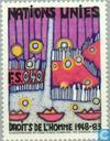 Timbres-poste - Nations unies - Genève - Droits de l'Homme