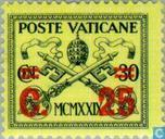 Postage Stamps - Vatican City - Pope Pius XI with print