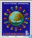 Timbres-poste - Luxembourg - 75 ans de Scoutisme