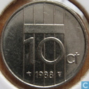 Coins - the Netherlands - Netherlands 10 cents 1988