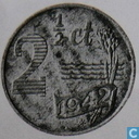 Coins - the Netherlands - Netherlands 2½ cent 1942 (zinc)