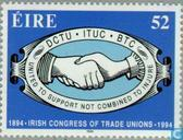 Postage Stamps - Ireland - Unions Congress 100 years
