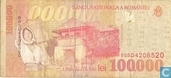 Banknotes - Romania - 1996-2000 Paper Issue - Romania 100.000 Lei 1998