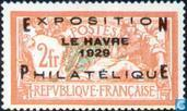 Postage Stamps - France [FRA] - Allegory (Type Merson), with overprint