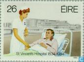 Postage Stamps - Ireland - St. Vincent Hospital 150 years