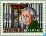 Postzegels - Oostenrijk [AUT] - Johann  Georg Albrechtsberger,250 jaar