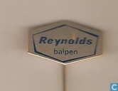 Reynolds balpen [zilver met blauw opschrift]