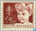 Postage Stamps - Belgium [BEL] - Child Head